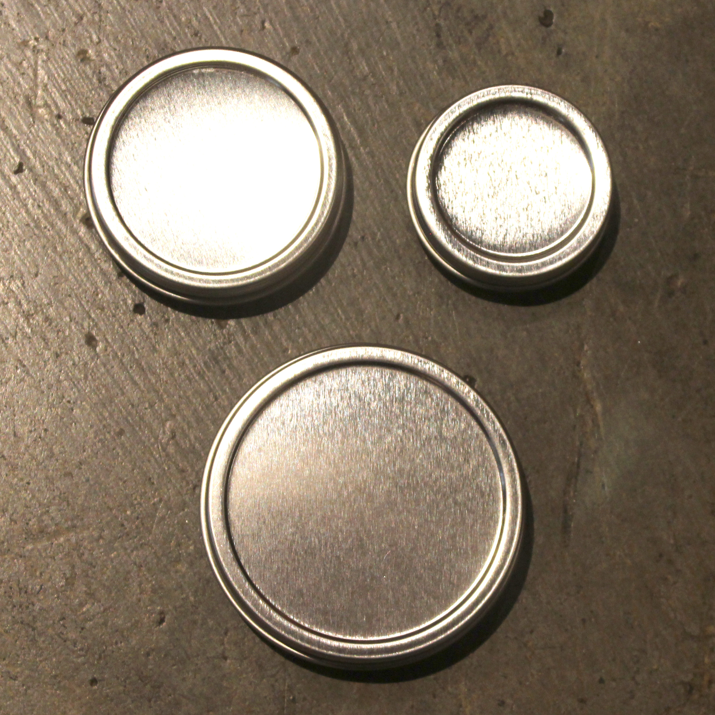 Metal Tins .5 oz 1 oz 2 oz